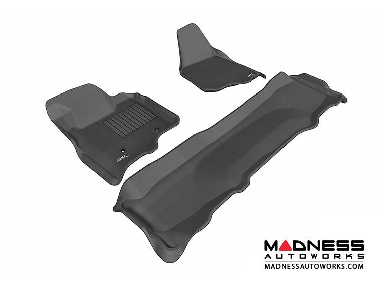 Ford F-250/ 350/ 450 Super Duty Crew Cab Floor Mats (Set of 3) - Black by 3D MAXpider
