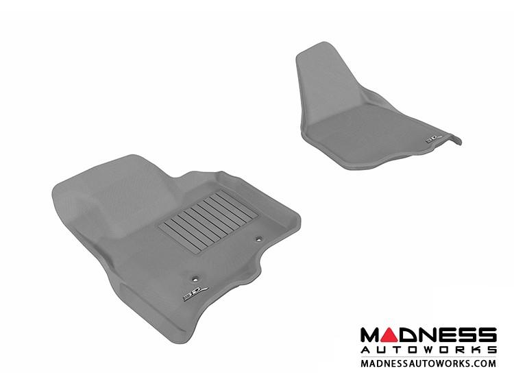 Ford F-250/ 350/ 450 Super Duty Super Cab/ Crew Cab Floor Mats (Set of 2) - Front - Gray by 3D MAXpider