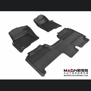 Ford F-150 Supercab Floor Mats (Set of 3) - Black by 3D MAXpider