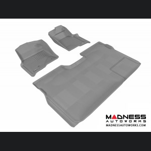 Ford F-150 Supercrew Floor Mats (Set of 3) - Gray by 3D MAXpider