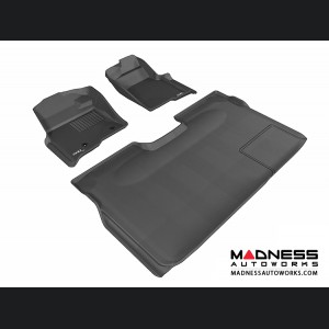 Ford F-150 Supercrew Floor Mats (Set of 3) - Black by 3D MAXpider
