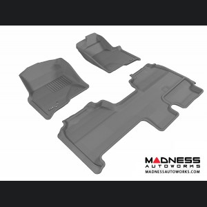 Ford F-150 Supercab Floor Mats (Set of 3) - Gray by 3D MAXpider