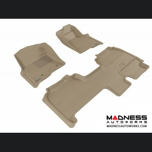 Ford F-150 Supercab Floor Mats (Set of 3) - Tan by 3D MAXpider