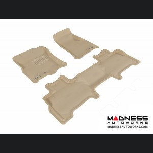 Ford Expedition Floor Mats (Set of 3) - Tan by 3D MAXpider
