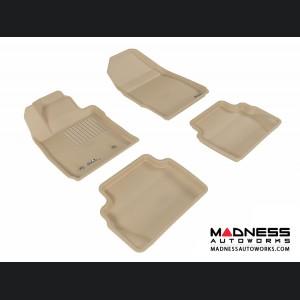 Ford Fiesta Hatchback Floor Mats (Set of 4) - Tan by 3D MAXpider