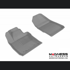 Ford Fiesta Hatchback Floor Mats (Set of 2) - Front - Gray by 3D MAXpider