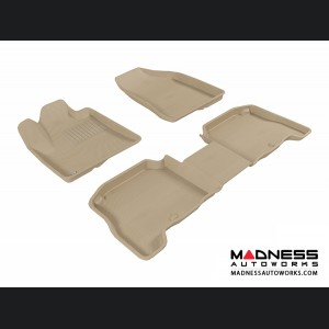 Hyundai Santa Fe Floor Mats (Set of 3) - Tan by 3D MAXpider