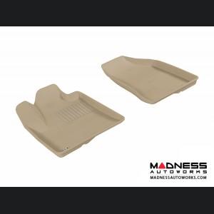 Hyundai Santa Fe Floor Mats (Set of 2) - Front - Tan by 3D MAXpider