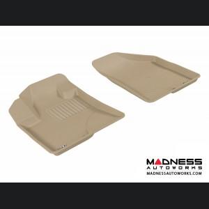 Hyundai Veracruz Floor Mats (Set of 2) - Front - Tan by 3D MAXpider