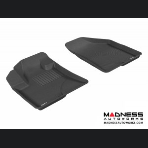 Hyundai Veracruz Floor Mats (Set of 2) - Front - Black by 3D MAXpider