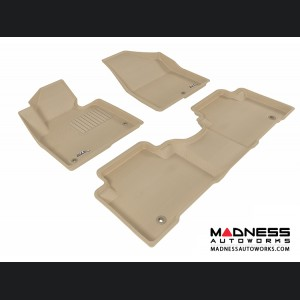 Hyundai Santa Fe Sport Floor Mats (Set of 3) - Tan by 3D MAXpider