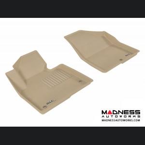 Hyundai Santa Fe Sport/ Santa Fe Floor Mats (Set of 2) - Front - Tan by 3D MAXpider