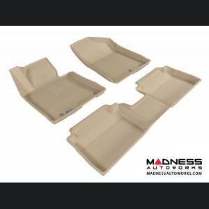 Hyundai Elantra GT Floor Mats (Set of 3) - Tan by 3D MAXpider