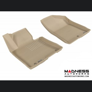 Hyundai Elantra GT Floor Mats (Set of 2) - Front - Tan by 3D MAXpider