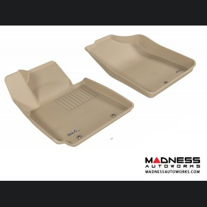 Hyundai Veloster Floor Mats (Set of 2) - Front - Tan by 3D MAXpider