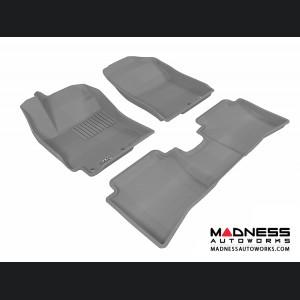 Hyundai Accent Sedan Floor Mats (Set of 3) - Gray by 3D MAXpider