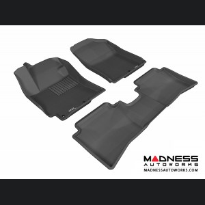 Hyundai Accent Sedan Floor Mats (Set of 3) - Black by 3D MAXpider