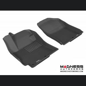 Hyundai Accent Sedan Floor Mats (Set of 2) - Front - Black by 3D MAXpider