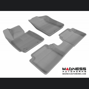 Hyundai Veloster Floor Mats (Set of 3) - Gray by 3D MAXpider