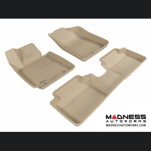 Hyundai Veloster Floor Mats (Set of 3) - Tan by 3D MAXpider