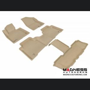 Hyundai Santa Fe Floor Mats (Set of 4) - Tan by 3D MAXpider