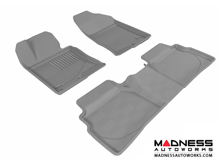Hyundai Sonata Floor Mats (Set of 3) - Gray by 3D MAXpider