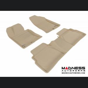 Hyundai Sonata Floor Mats (Set of 3) - Tan by 3D MAXpider