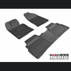 Hyundai Sonata Floor Mats (Set of 3) - Black by 3D MAXpider