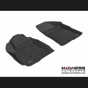 Hyundai Santa Fe Floor Mats (Set of 2) - Front - Black by 3D MAXpider