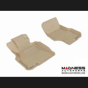 Infiniti M35 Floor Mats (Set of 2) - Front - Tan by 3D MAXpider