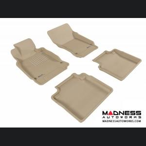 Infiniti M37 Floor Mats (Set of 4) - Tan by 3D MAXpider