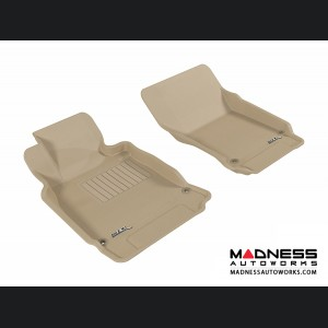 Infiniti M37 Floor Mats (Set of 2) - Front - Tan by 3D MAXpider
