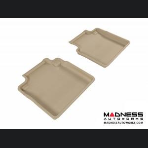 Infiniti M37 Floor Mats (Set of 2) - Rear - Tan by 3D MAXpider