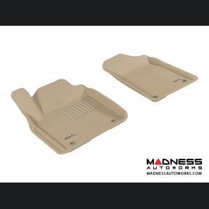 Infiniti QX80/ QX56 Floor Mats (Set of 2) - Front - Tan by 3D MAXpider