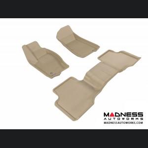 Jeep Grand Cherokee Floor Mats (Set of 3) - Tan by 3D MAXpider