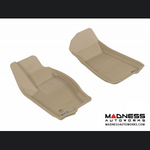 Jeep Grand Cherokee Floor Mats (Set of 2) - Front - Tan by 3D MAXpider