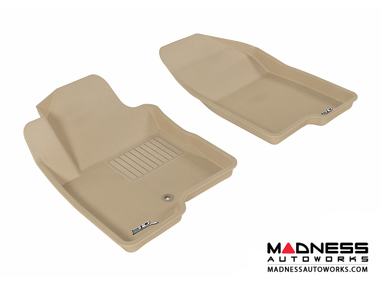 Jeep Compass Floor Mats (Set of 2) - Front - Tan by 3D MAXpider