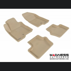 Jeep Compass Floor Mats (Set of 4) - Tan by 3D MAXpider