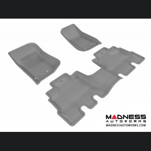 Jeep Wrangler Unlimited Floor Mats (Set of 3) - Gray by 3D MAXpider