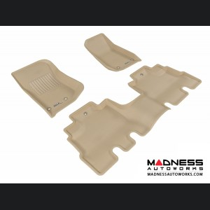 Jeep Wrangler Unlimited Floor Mats (Set of 3) - Tan by 3D MAXpider