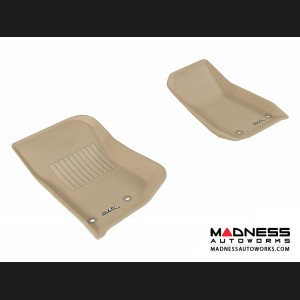 Jeep Wrangler / Unlimited Floor Mats (Set of 2) - Front - Tan by 3D MAXpider