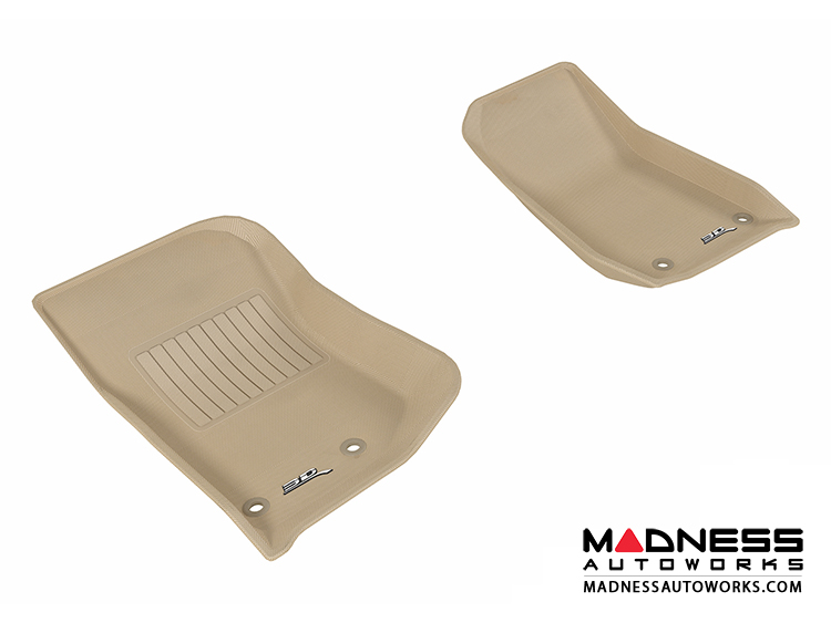 Jeep Wrangler / Unlimited Floor Mats (Set Of 2)   Front   Tan By 3D MAXpider