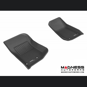 Jeep Wrangler / Unlimited Floor Mats (Set of 2) - Front - Black by 3D MAXpider