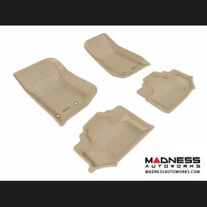 Jeep Wrangler Floor Mats (Set of 4) - Tan by 3D MAXpider