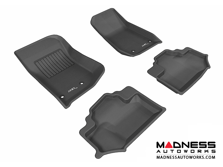 Jeep Wrangler Floor Mats (Set of 4) - Black by 3D MAXpider