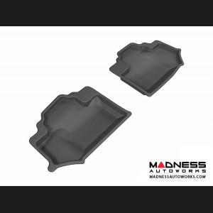 Jeep Wrangler Floor Mats (Set of 2) - Rear - Black by 3D MAXpider
