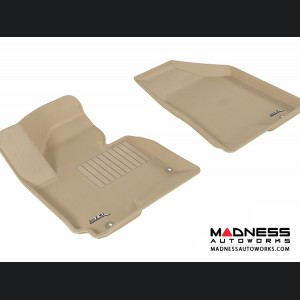 Hyundai Tucson Floor Mats (Set of 2) - Front - Tan by 3D MAXpider