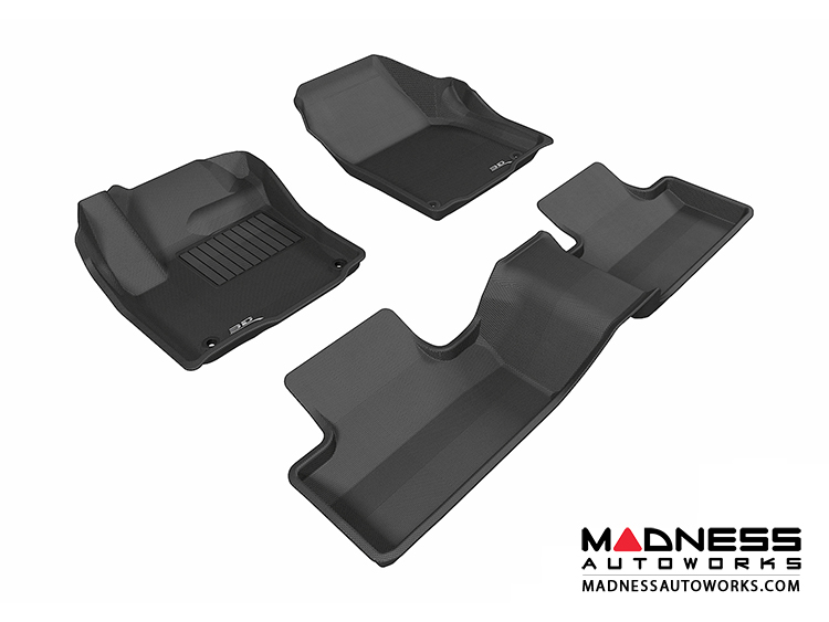 Land Rover Range Rover Evoque Floor Mats (Set of 3) - Black by 3D MAXpider