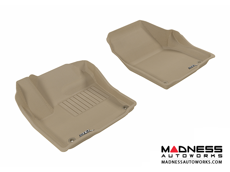 Land Rover Range Rover Evoque Floor Mats (Set of 2) - Front - Tan by 3D MAXpider