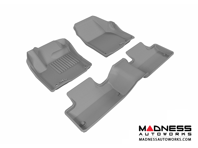 Land Rover Range Rover Evoque Floor Mats (Set of 3) - Gray by 3D MAXpider
